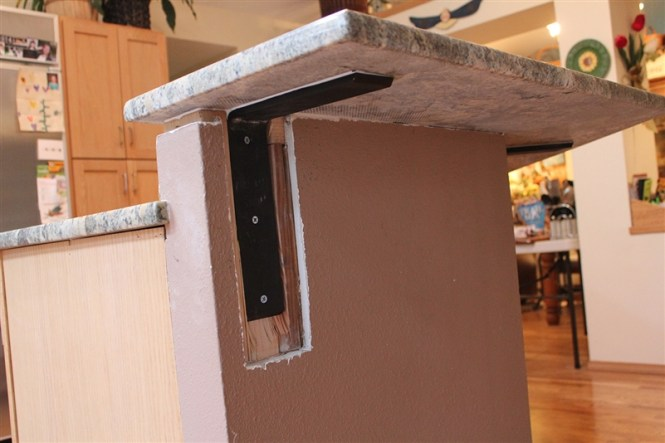 countertop overhang support bstcountertops