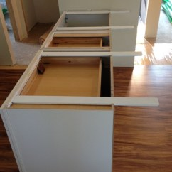 Butcher Block Kitchen Cart Seat Cushions Countertop Island Supports - Hidden
