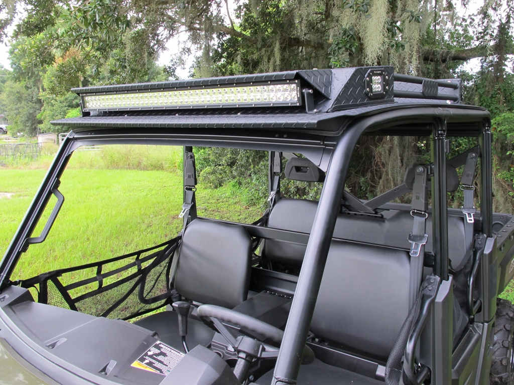 polaris ranger xp570 900 1000 crew cab roof deep south deluxe led and stereo top mk6