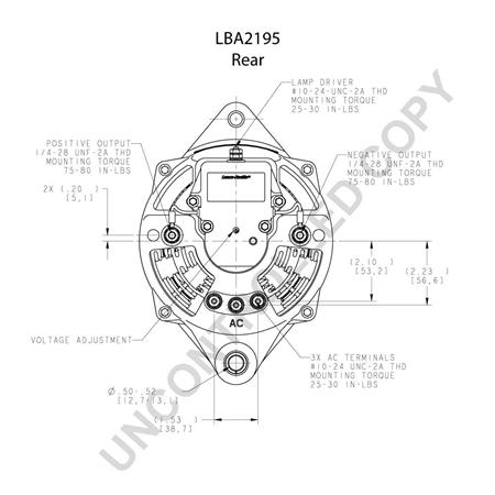 Leece Neville 110-923 12V 160amp Alternator