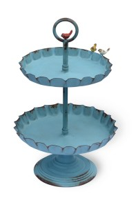 2 Tier Metal Stand Blue