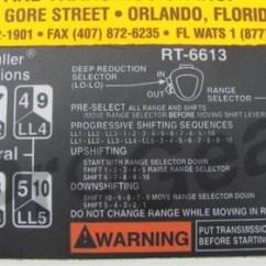 Fuller 13 Speed Transmission Diagram Mri Machine Rt-6613 Shift Pattern Decal. Eaton P/n:21756