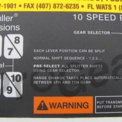 Eaton Fuller Transmission Diagram Hyundai I10 Ecu Wiring 23205 Shift Label Parts