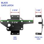 Vinyl Fence Gate Latch Vinyl Gate Latch Black Vinyl Gate Latches Includes Vinyl Gate Latch Spring Loaded Keeper Vinyl Gate Latch Striker