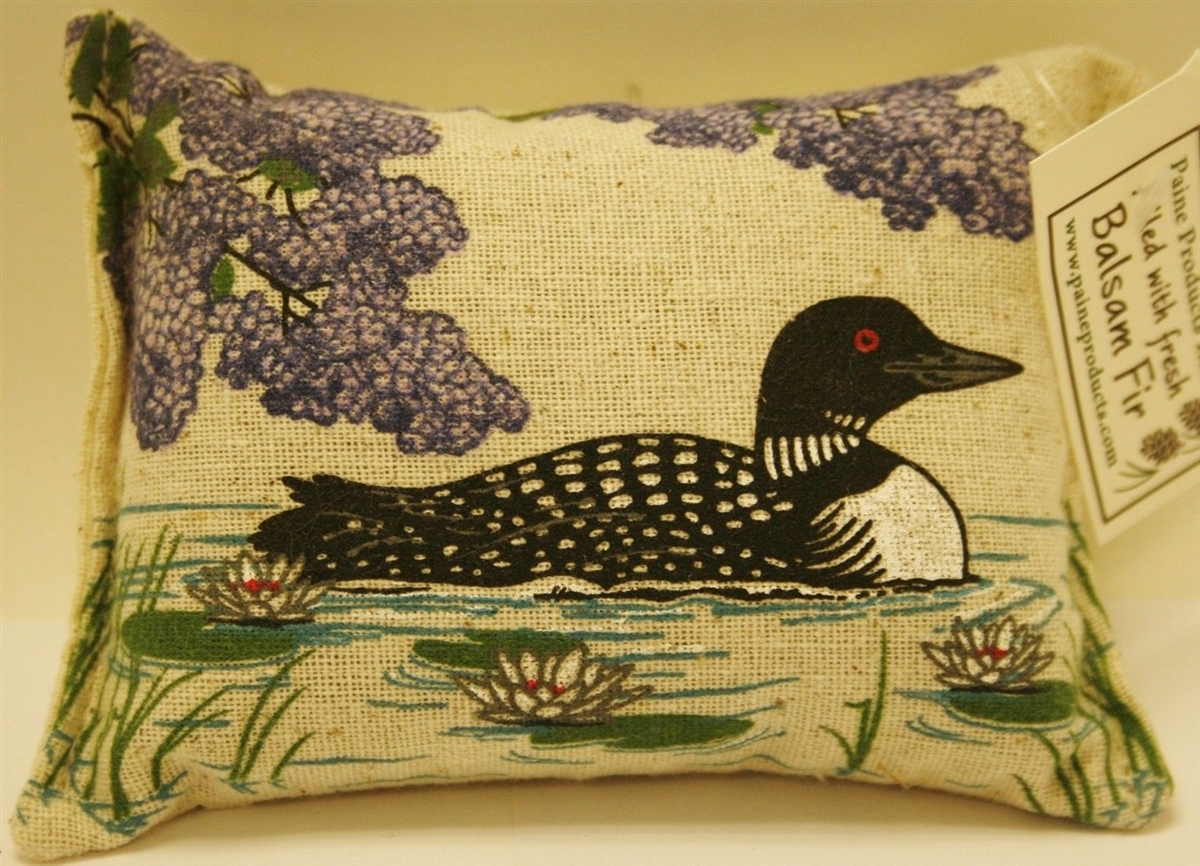 paine s balsam fir scented pillow loon w lilacs