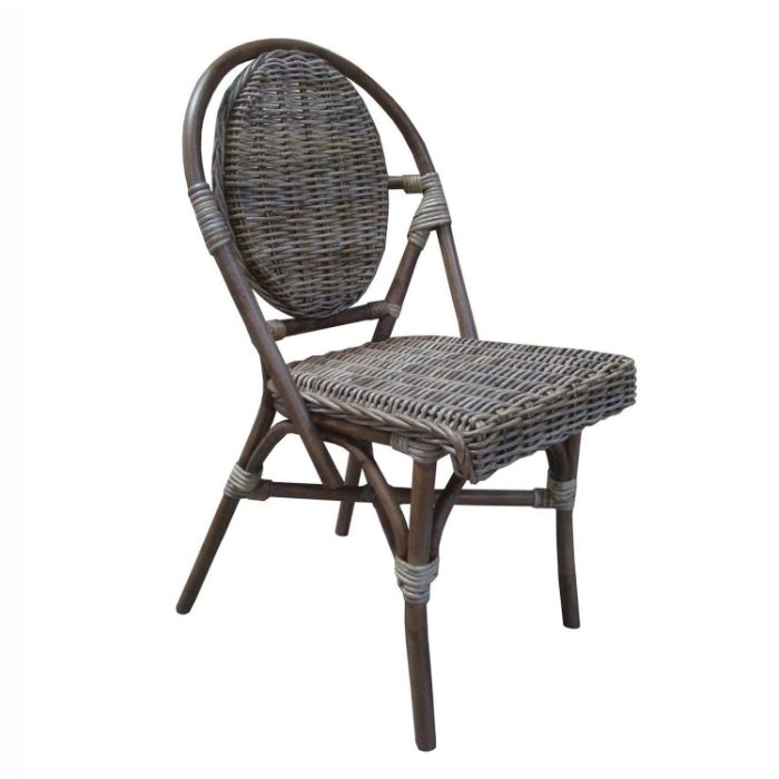 White Bistro Chairs Paris Bistro Chairs Kubu Wicker Set Of 2