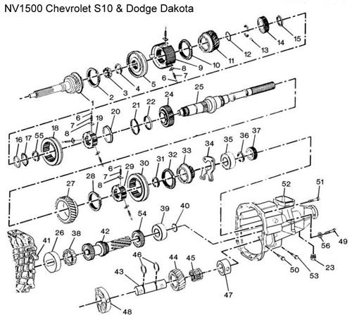 NV1500 S10 Diagram  Drawing  Chevrolet Transmission
