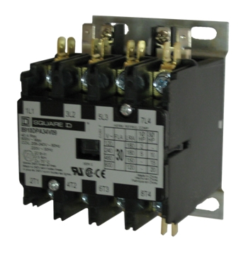 2 pole definite purpose contactor wiring diagram lte network square d 8910dpa34v02 30 amp 4-pole with a 120 volt ac coil