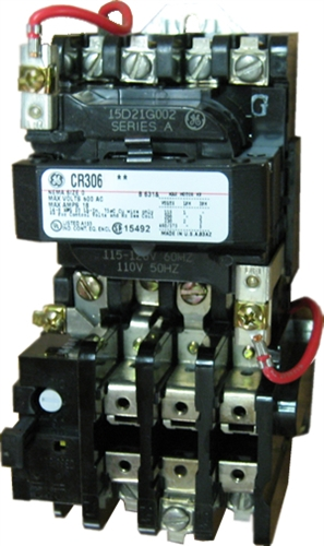 GE CR306B0** NEMA Starter, 18 AMP, 3 Pole with an AC coil