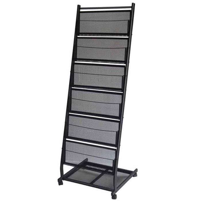 6 Pocket Mobile Stand Magazine Rack Large