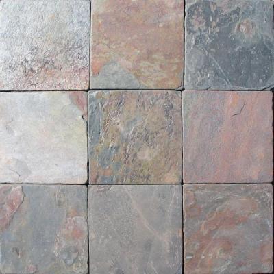 tumbled slate tile 4 x 4 multicolor natural slate stone tile tumbled