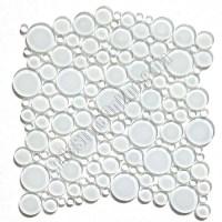 Round Bubbles Glass Tile Mosaic - Crystal Glass Bubbles ...