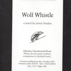 How To Wolf Whistle Diagram Vw Jetta Wiring From Lemuria Books By Lewis Nordan