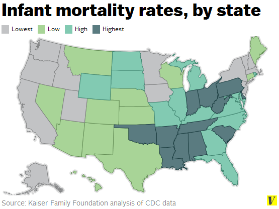 Image result for infatn mortaility by state