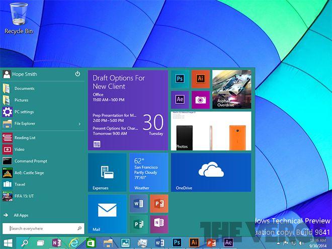 Win10 Start menu 660