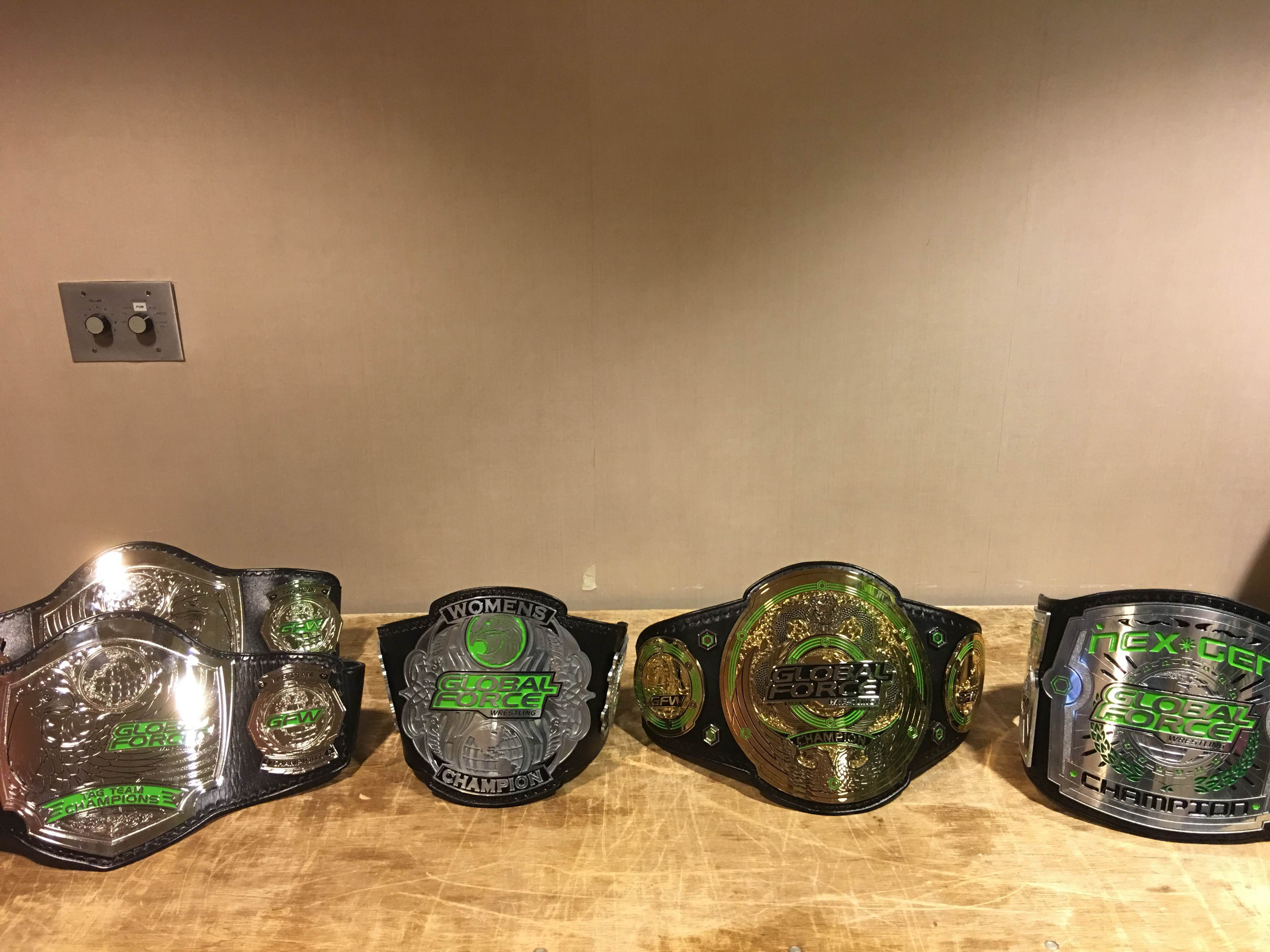 GFW unveils its world title belt, the 'Global Championship' - Cageside Seats
