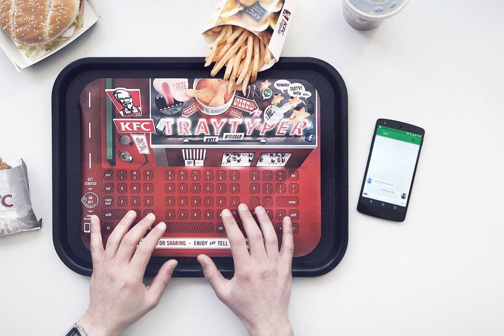 KFC Tray Typer Keyboard Is Finger Clickin Good The Verge