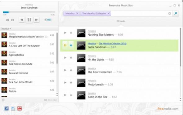 freemake 590x371 Freemake Music Box, servicio legal de música en streaming