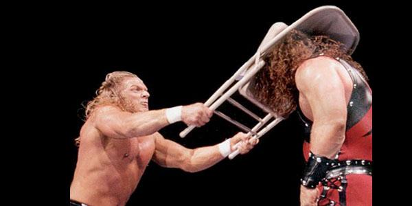 steel chair in wwe portable directors 2 10 sickest shots ever