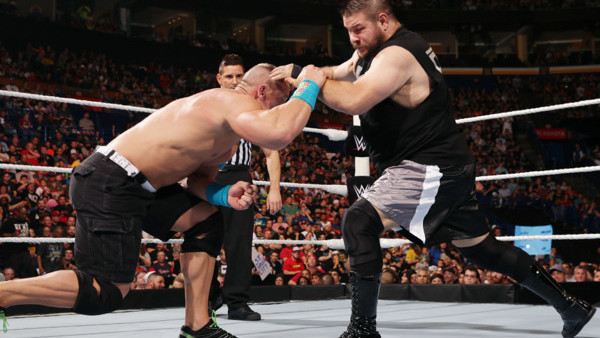 Image result for Battleground 2015 John Cena vs Kevin Owens
