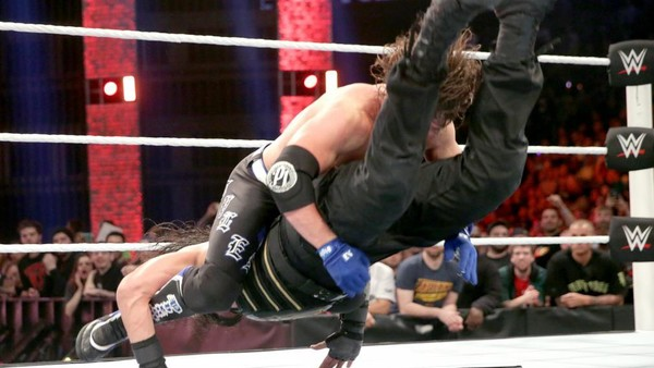what are wwe chairs made of ikea oversized chair extreme rules 2016 10 things you probably missed page 11 aj styles sure roman s face didn t hit the steel com