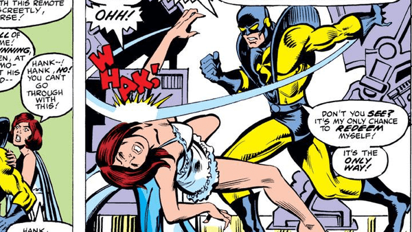 Image result for Hank Pym Hits the Wasp