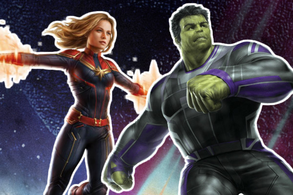 Avengers 4 Captain Marvel Hulk