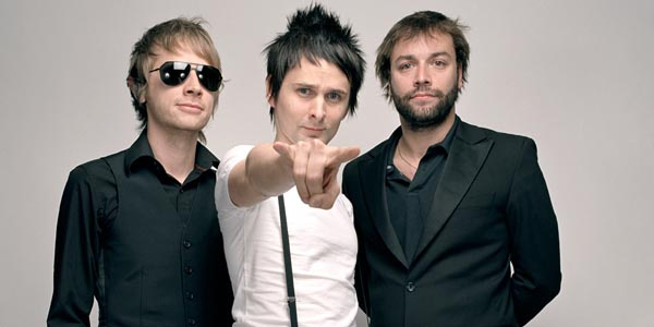 (from l-r) Dom Howard, Matt Bellamy and Chris Wolstenholme