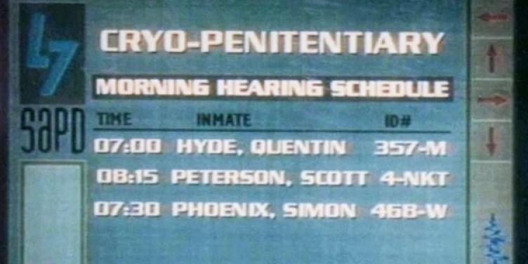 リスト2列目に 08:15 PETERSON,SCOTT の名前が記載されている。