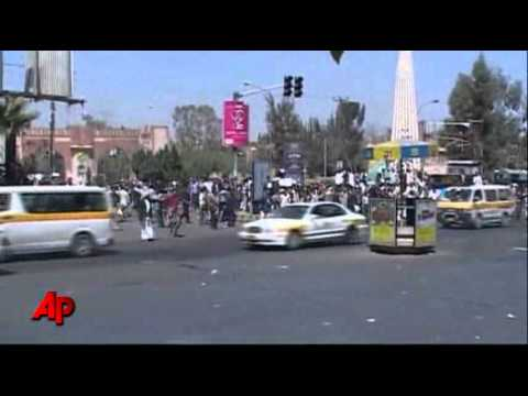 Raw Video: Violent Clashes in Yemen Protests