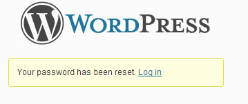 Password reset complete
