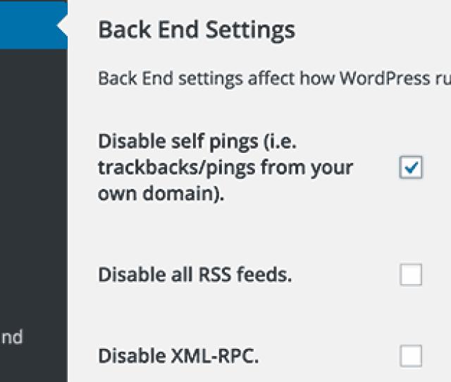 Disabler Plugin Settings Page