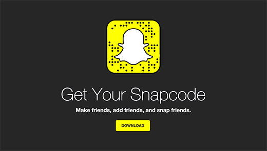 Download your snapcode