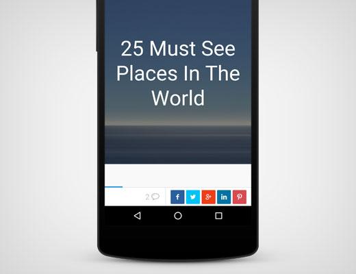 Swifty Bar on mobile screen