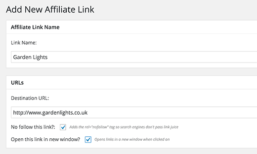 Add and manage affiliate links in WordPress