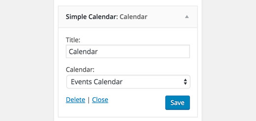 Adding Google Calendar to a sidebar using widget