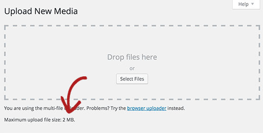 maximum upload file size in WordPress