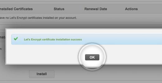 Let's Encrypt installed