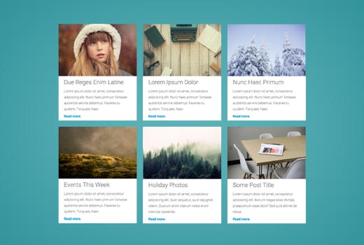 Displaying WordPress posts in grid layout