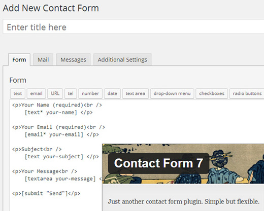 Contact Form 7 UI