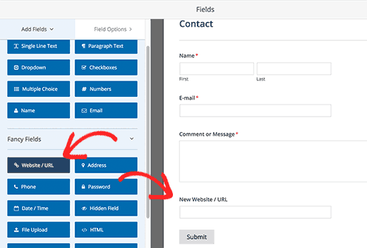 Adding new fields to your form