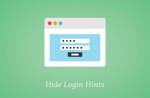 Hide login hints in WordPress