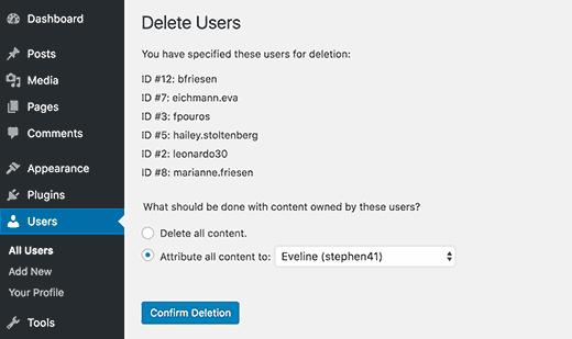 Delete or attribute content