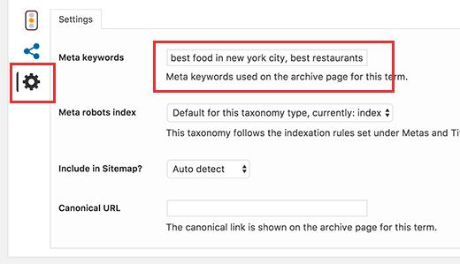 Thêm từ khóa meta cho trang lưu trữ danh mục trong WordPress