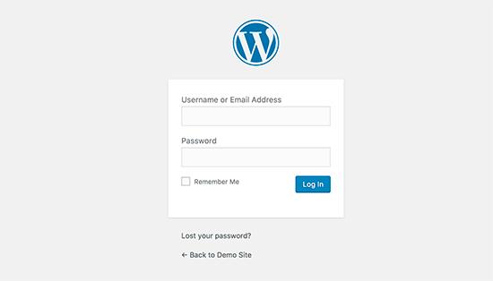 WordPress loginpagina