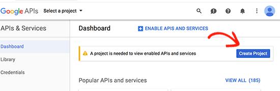 Create Google Developer Console project