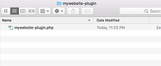 Creating the plugin file for your site-specific plugin