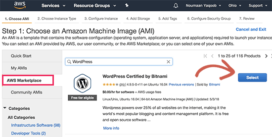 Install Amazon Machine Image