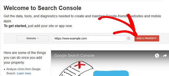 Voeg een website toe aan de Google-zoekconsole