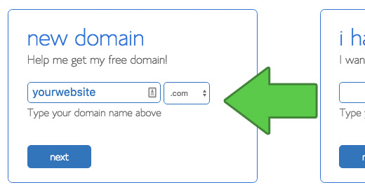 Choose domain name for your website